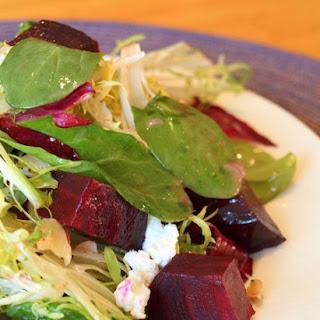 Roasted Beet Salad with Walnuts, Goat Cheese & Honey-Dijon Vinaigrette Recipe