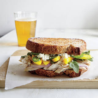 Griddled Chicken and Mango Sandwiches.