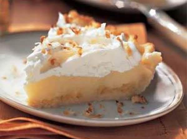 Cocunut-banana Cream Pie With Pineapple