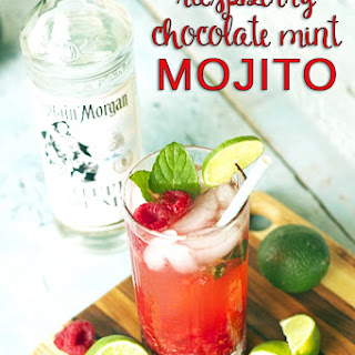 Raspberry Chocolate Mint Mojito