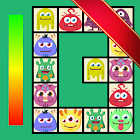 Connect: cute monsters and food. Casual game