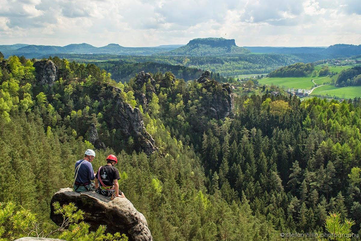 Photo: Sächsische Schweiz Landschaft Bergsteiger - Foto von Stefan Hille
