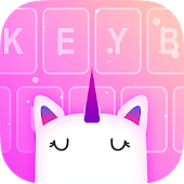 Unicorn Keyboard: Free Galaxy Rainbow Girly Themes