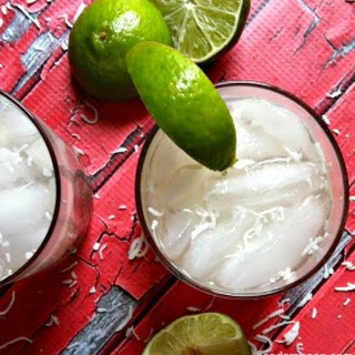 Spiked Raspberry-Lime Coconut Water