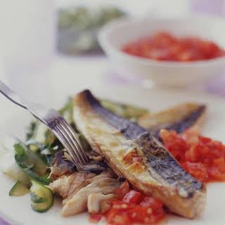 Mackerel with Chili Jam and Cucumber.