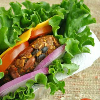 Triple-Bean Vegetarian Chili Burgers.