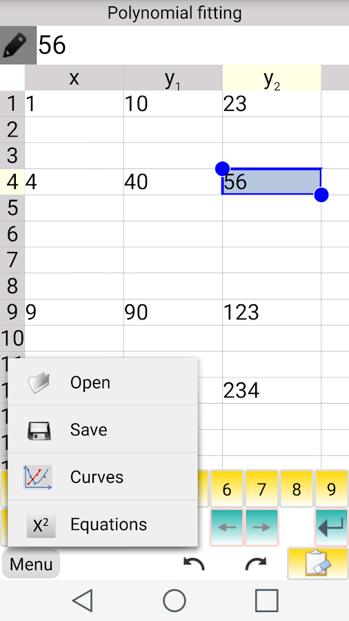 Curve Fitting & Matrix  Lite- screenshot