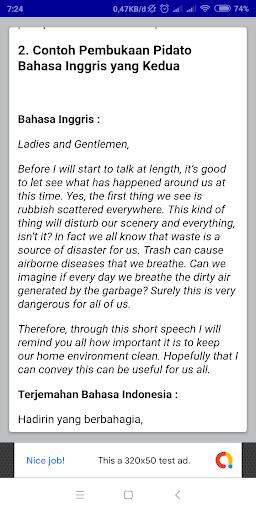 Contoh Teks Pembukaan Pidato Bahasa Inggris Singkat