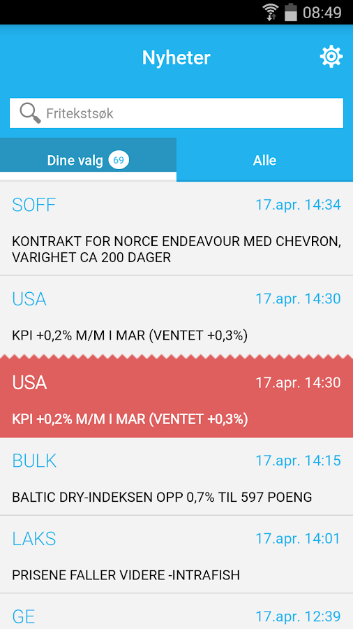 TDN Finans- screenshot