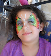 Photo: Beautiful Butterfly Face Painting Design by Paola from http://www.BestPartyPlanner.net