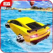 Extreme Water Car Surfer : Floating Water Surface