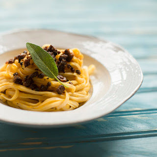 Butternut Squash Carbonara with Bacon and Sage