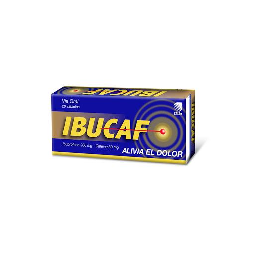 Ibuprofeno + Cafeina Ibucaf 200/30 mg x 20 Tabletas 200/30mg x 20 Tabletas Calox