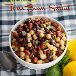 Lemon-Basil Three Bean Salad