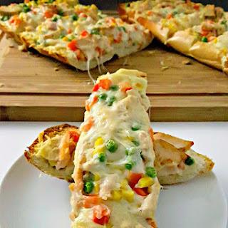 Chicken Pot Pie French Bread Pizza