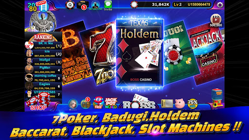 Boss Poker u2013 Texas Holdem Blackjack Baccarat apkslow screenshots 5