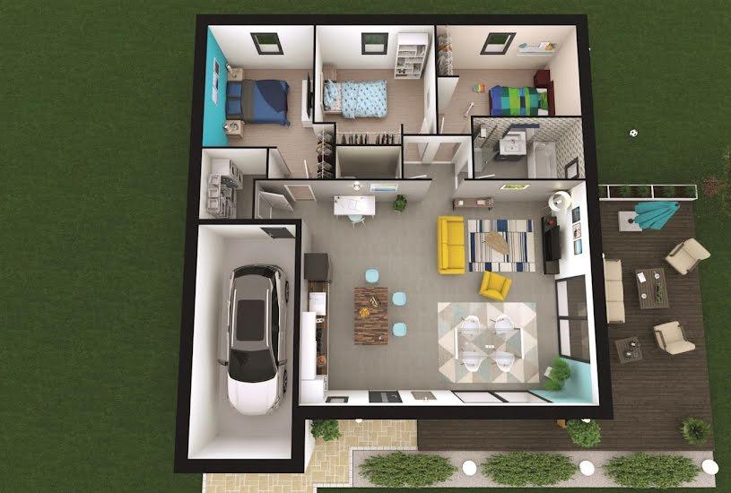 Vente Terrain + Maison - Terrain : 2427m² - Maison : 93m² à Gardonne (24680)