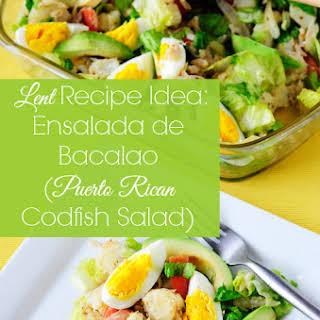 Ensalada de Bacalao (Puerto Rican Codfish Salad).