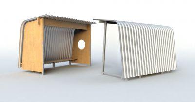 Obrázek - Návrh č. 2: dřevo/kov