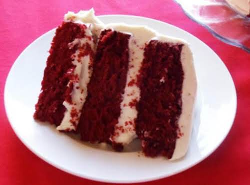 "White Godiva Martini Cake ""I have tried many different Red Velvet Cake Recipes..."