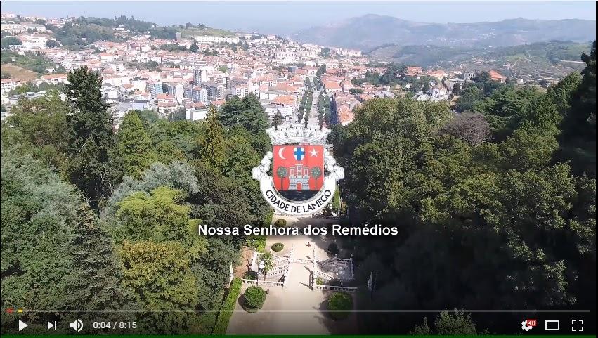 Vista aérea e terrestre - Santuário de Nossa Senhora dos Remédios - Lamego 2016 - 4K UHD