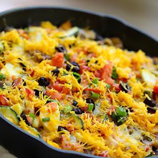 Cheesy Skillet Bean & Veggie Taco Meal.