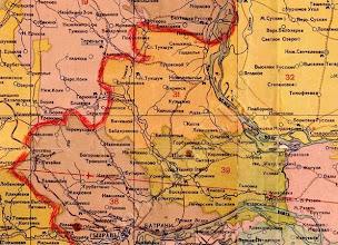 Photo: Новодевиченский район, фрагмент административной карты Куйбышевской области 1949 года