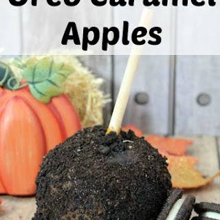 Oreo Caramel Apple
