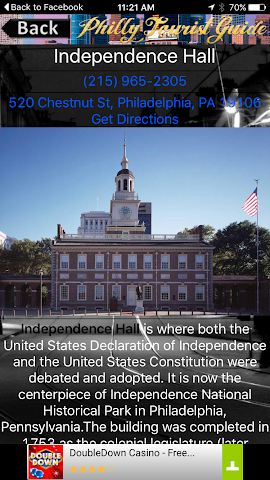 android Philadelphia Tourist Guide Screenshot 2