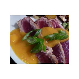 Seared Ahi W/ Spicy Mango Vinaigrette
