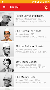 Prime Ministers of India - náhled