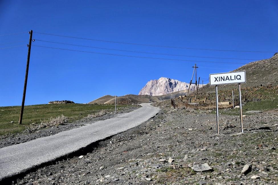 Azerbejdżan, Xinaliq Yolu, droga do Hinalug