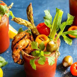 5 Pepper Bloody Mary with Grilled JalapeñO Shrimp Recipe