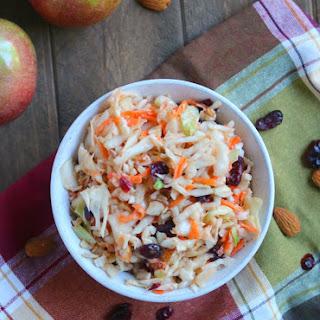 Apple Cranberry & Almond Coleslaw Recipe
