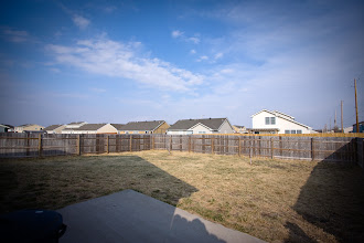 Photo: view from the backyard patio