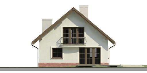 Dom przy Cyprysowej 46 - Elewacja tylna