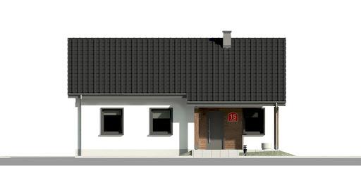 Dom przy Bukowej 11 - Elewacja przednia