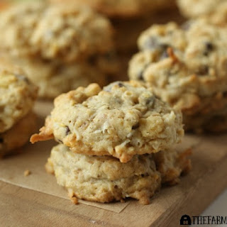 Coconut Oatmeal Crunch Cookies.