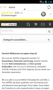 ASPIRE eZigaretten Shop- screenshot thumbnail