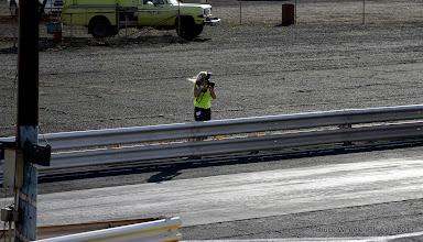Photo: Pam Conrad getting her shot!