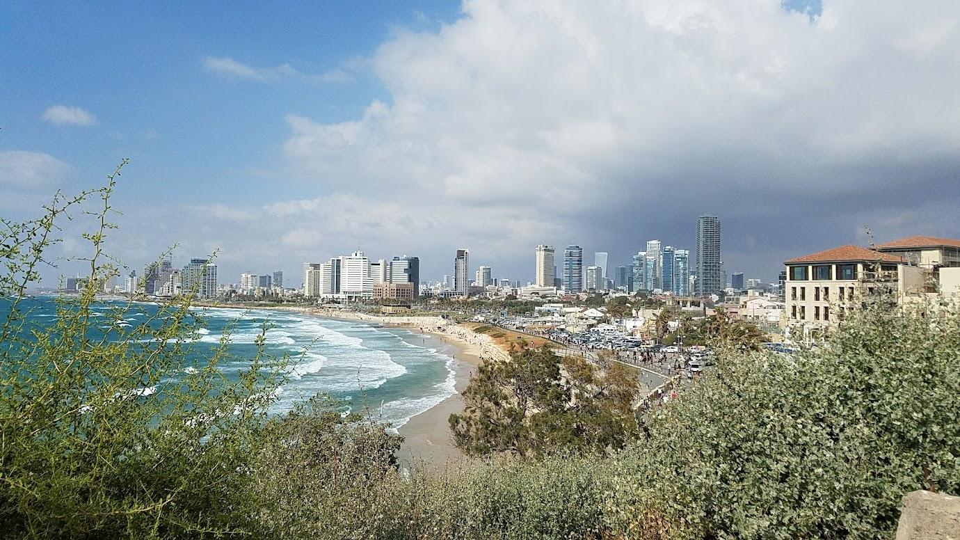 Travel Tuesday, walking in Jaffa and Tel Aviv in Israel visit, looking north towards Tel Aviv