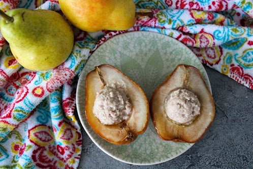 Cinnamon Mascarpone Baked Pears