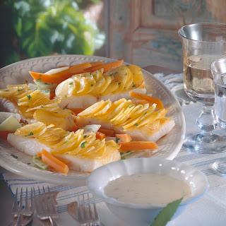 Heilbuttfilet mit Kartoffelkruste