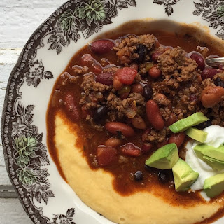 BROWN SUGAR CHILI AND CHEESE GRITS