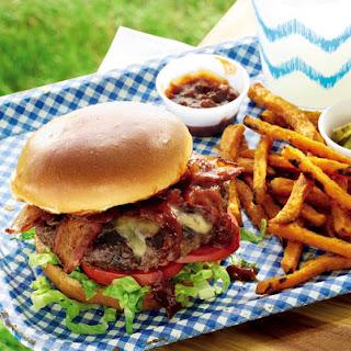 Bacon Cheeseburgers with Kentucky Bourbon Sauce.
