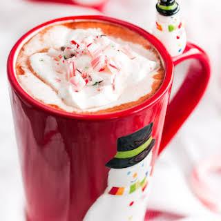 Homemade Peppermint Vodka Hot Chocolate.