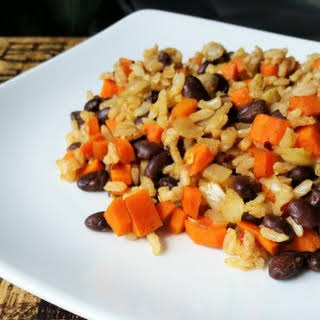 Black Beans, Carrots & Rice.
