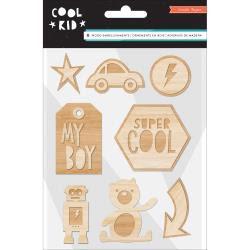 Crate Paper Wood Veneers Shapes 8/Pkg - Cool Kid UTGÅENDE