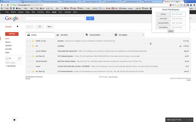 Tab Renamer for GmailTM