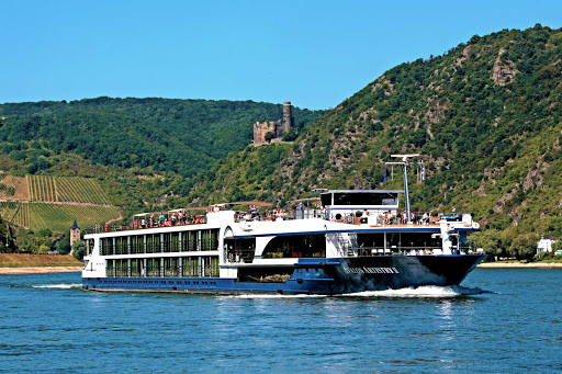 The 128-passenger Avalon Artistry II sails the Rhine (shown here), Danube and Main rivers.